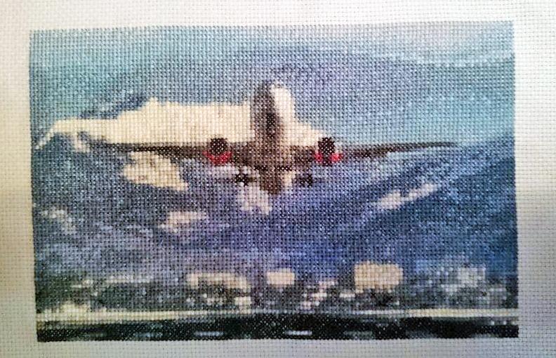 Вышивка бисером самолеты