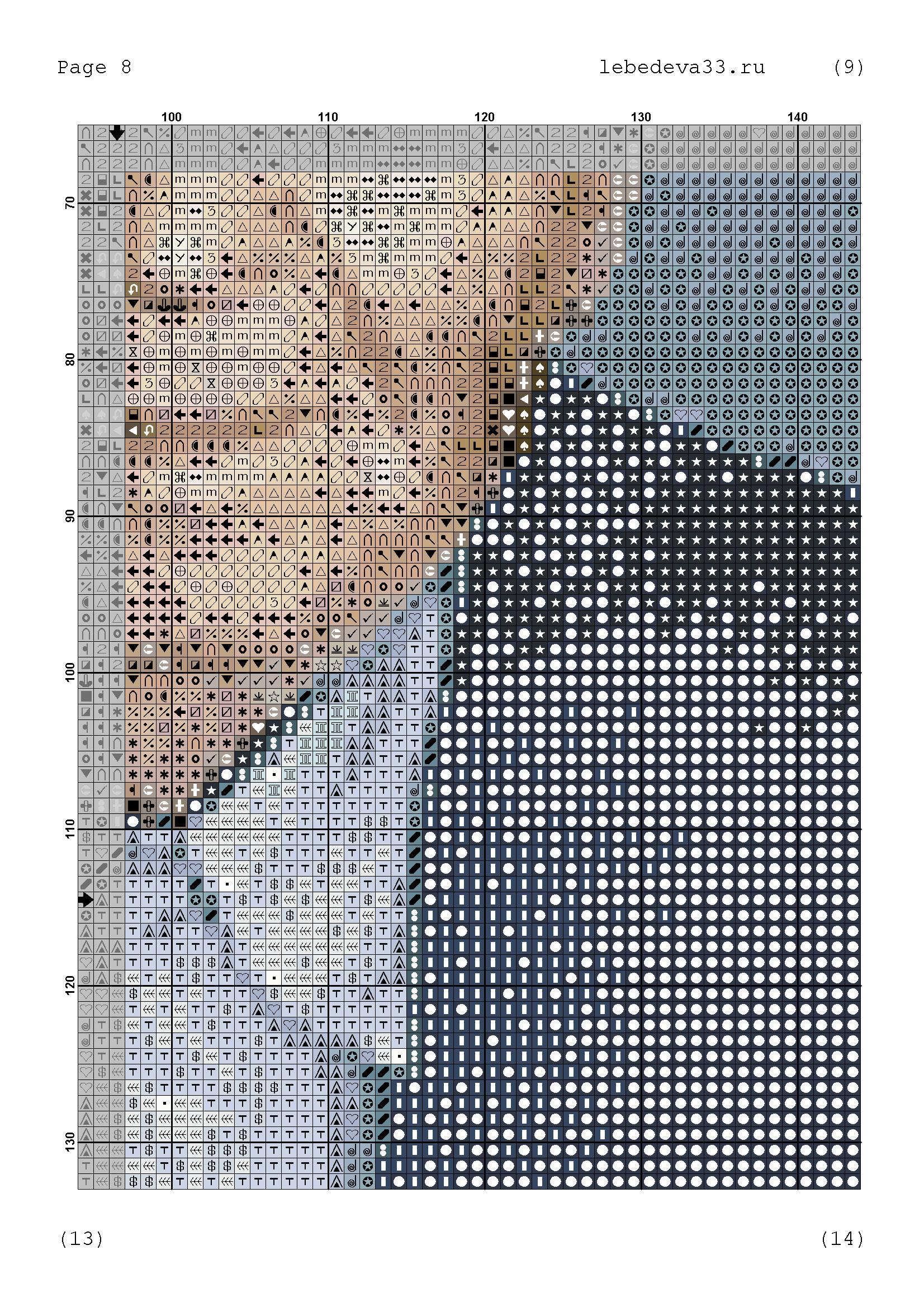 Вышивка по фотографии схема i