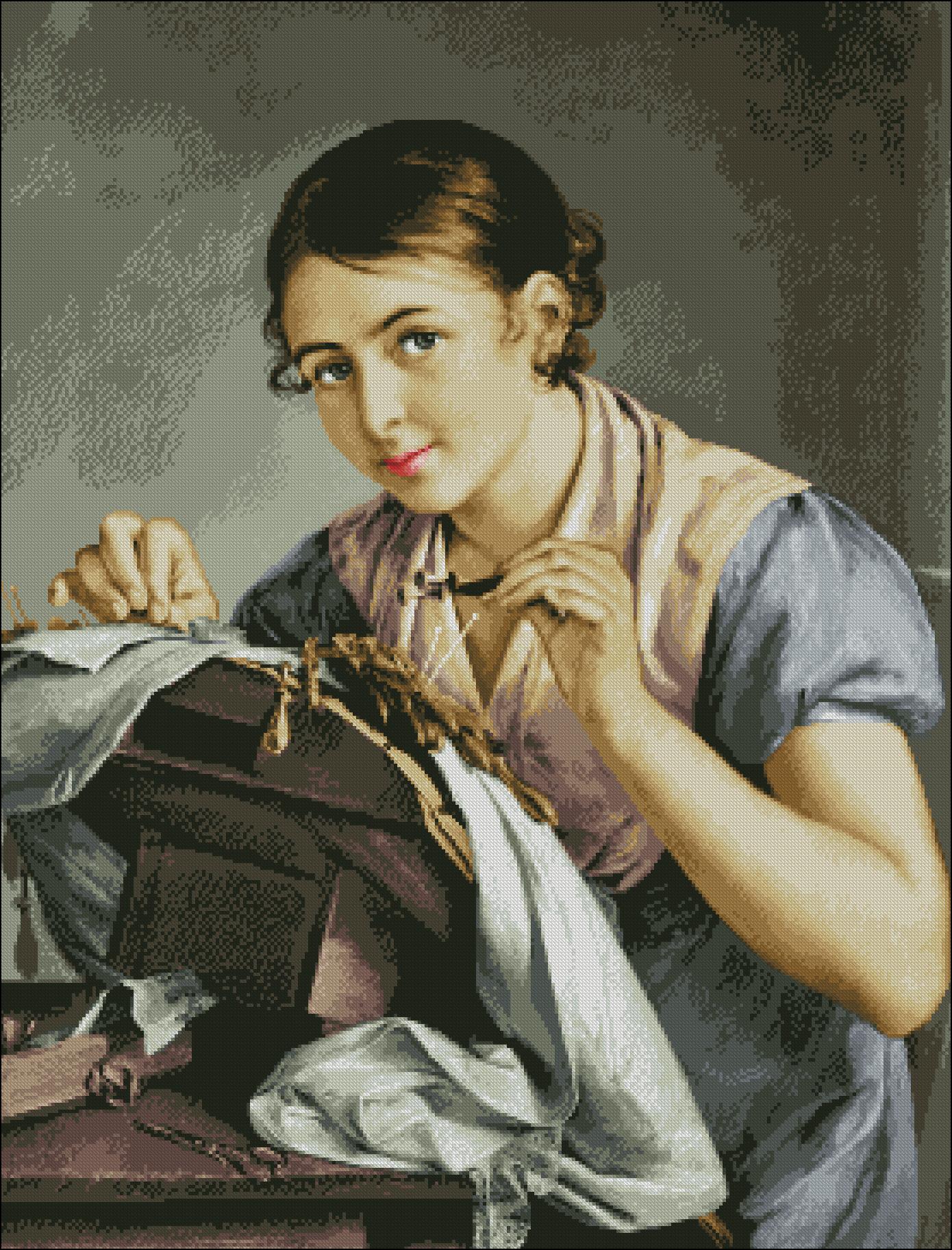 Вышивка бисером Вышивальщица